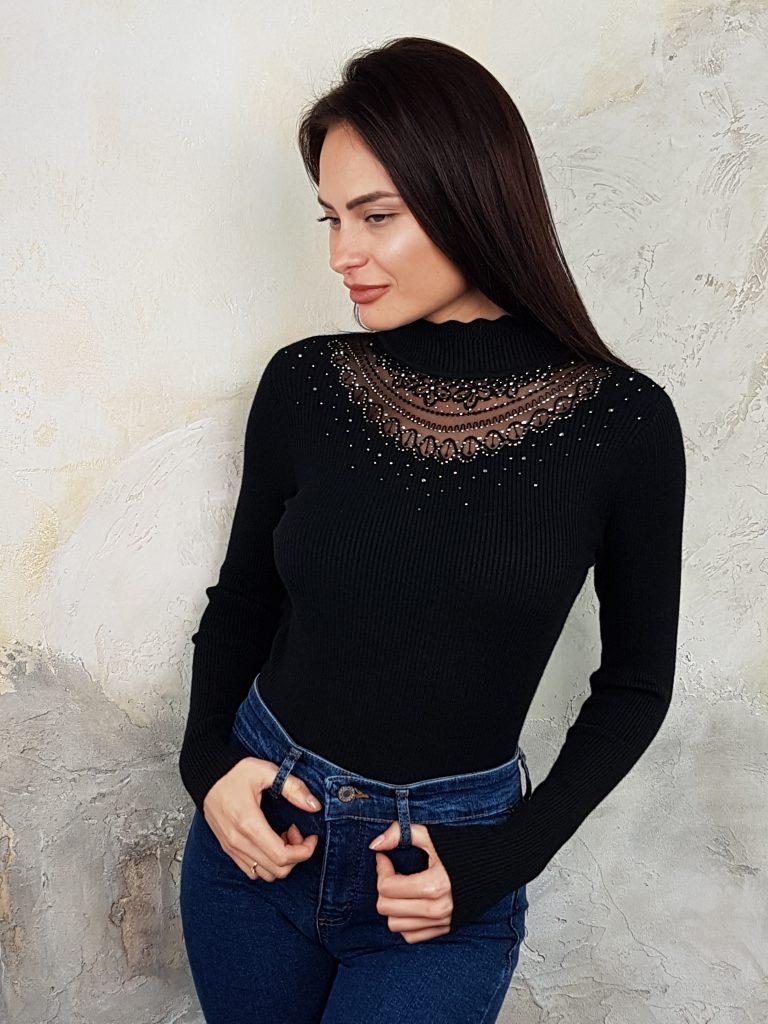 Стилна дамска блуза с дантела Foresta Bella 1257 - 9