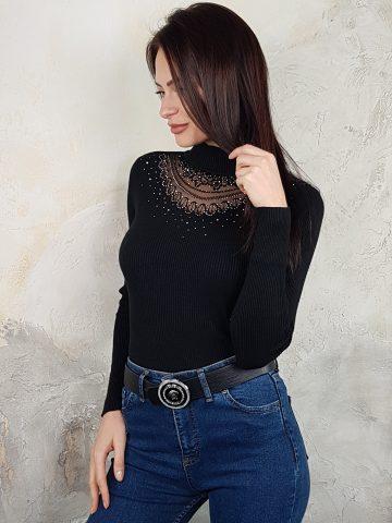 Стилна дамска блуза с дантела Foresta Bella 1257 - 10