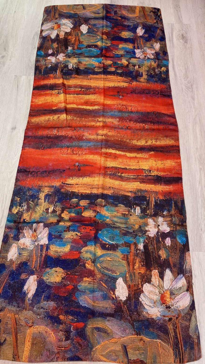 Копринен шал Flowers at Sunset 503