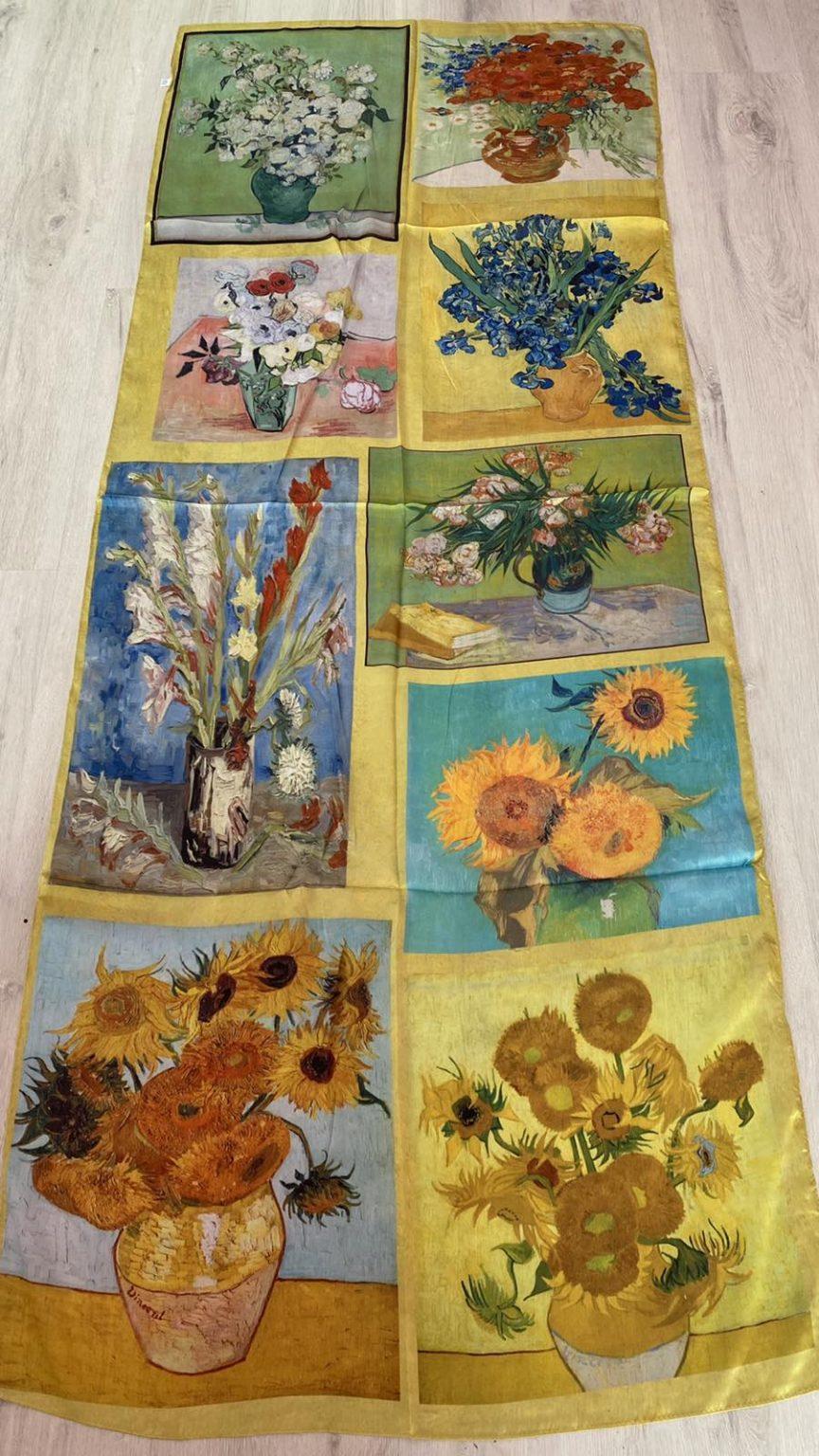 Копринен шал Multiple paintings 506