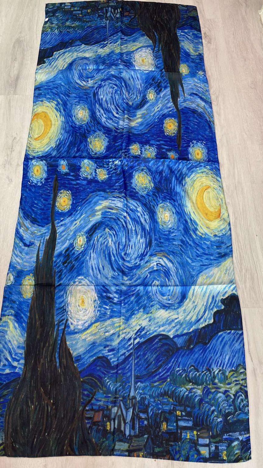 Копринен шал The Starry Night 508