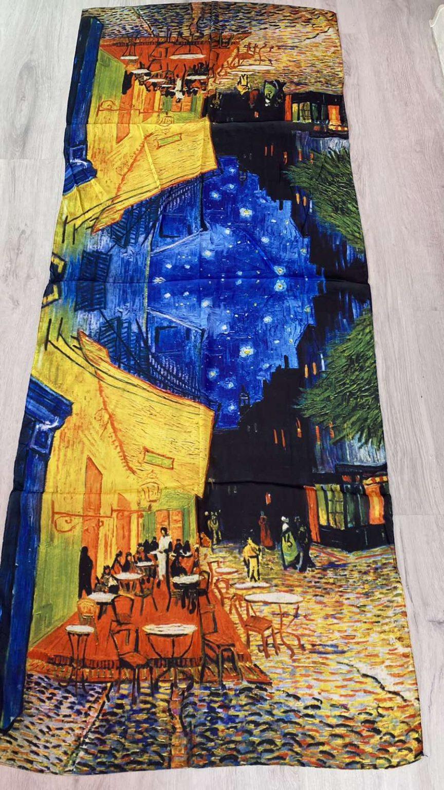 Копринен шал Café Terrace at Night 510