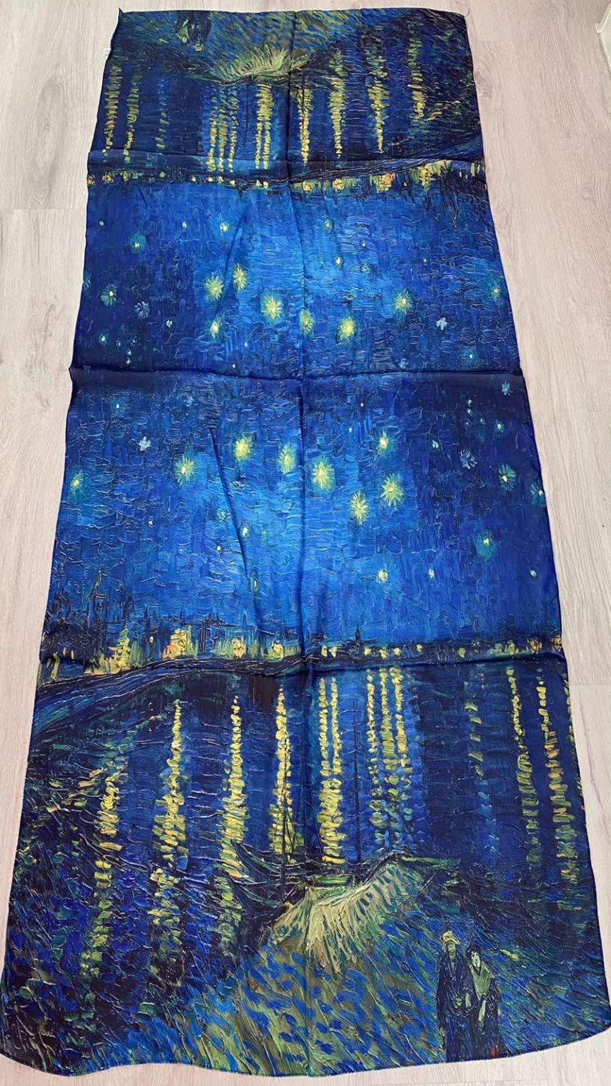 Копринен шал Starry Night Over the Rhône 511