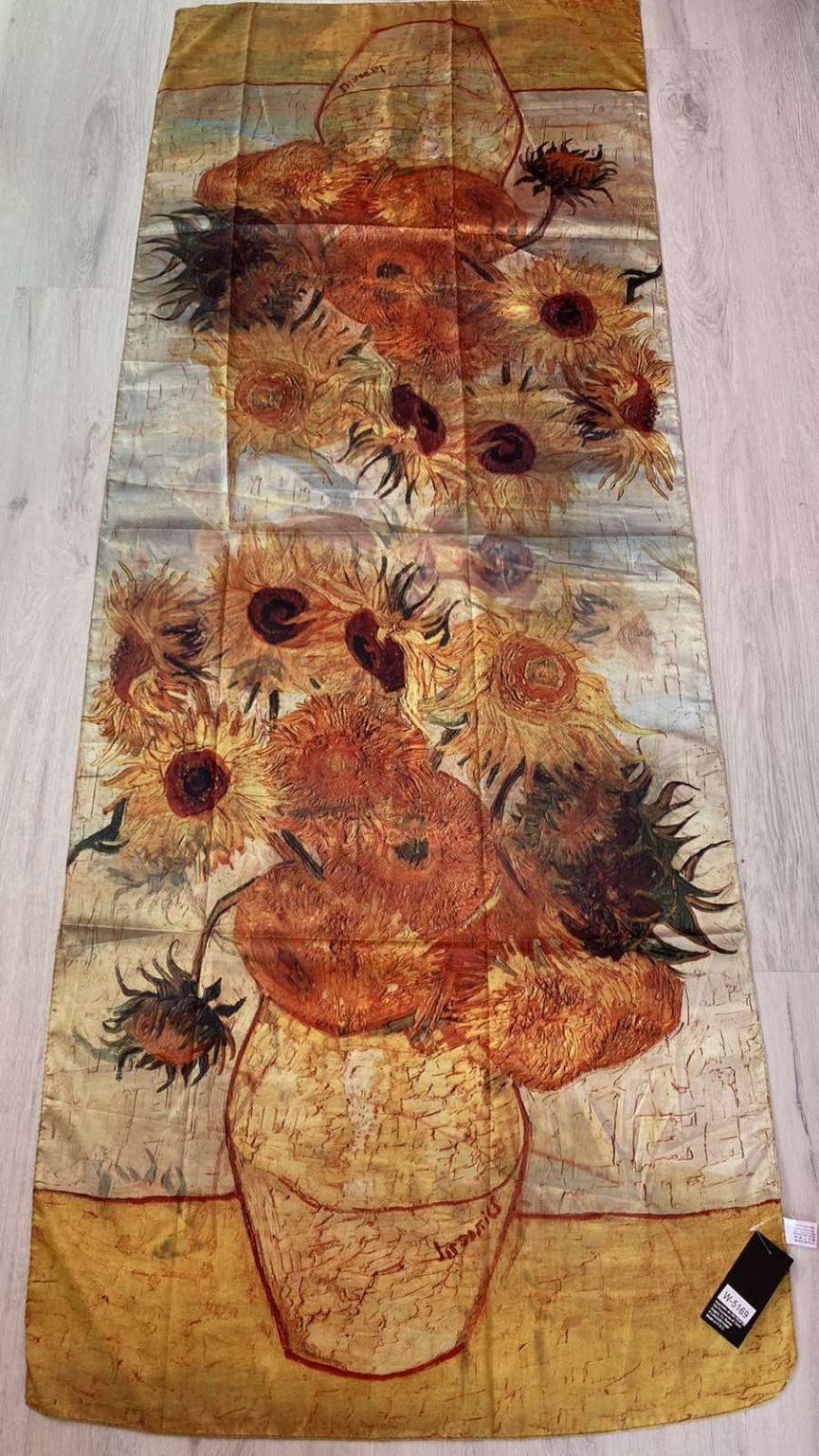 Копринен шал Sunflowers - Vincent van Gogh 513