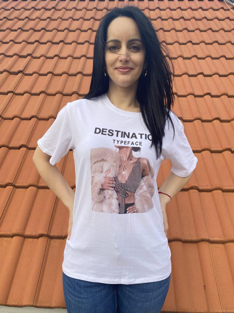 Тениска Destination typeface Amo & Roma 92363 - 0