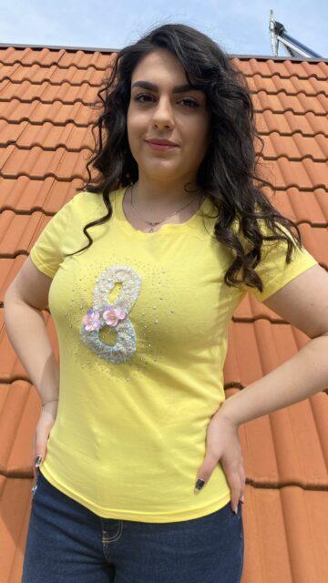 Тениска с камъни и перли Mei Gao 6027 - 3