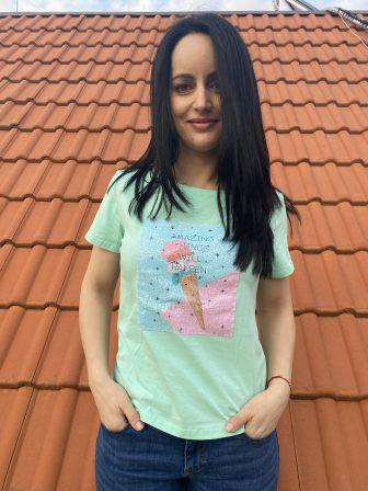 Тениска с пайети Ice Cream Mei Gao 6032 - 1