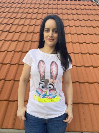 Тениска с камъни и пайети Miss Kiss 30012