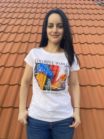 Тениска Colorful World Miss Kiss 30056 - 1
