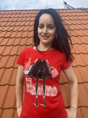3D Тениска с дантела и пайети Miss Kiss 32001 - 0