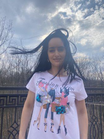 Тениска с пайети на Miss Kiss 32002 - 1