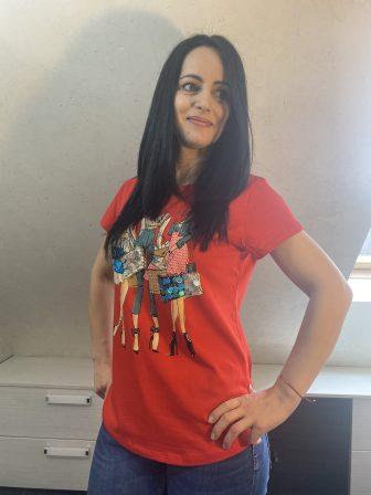 Тениска с пайети на Miss Kiss 32002 - 0