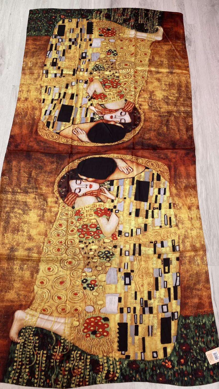 Копринен шал The Kiss - Gustav Klimt 528