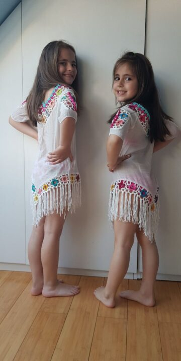 "Детска туника с ресни ""Hello bikini"" 0545 - 3"