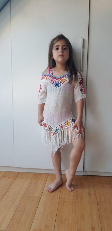 "Детска туника с ресни ""Hello bikini"" 0545 - 5"