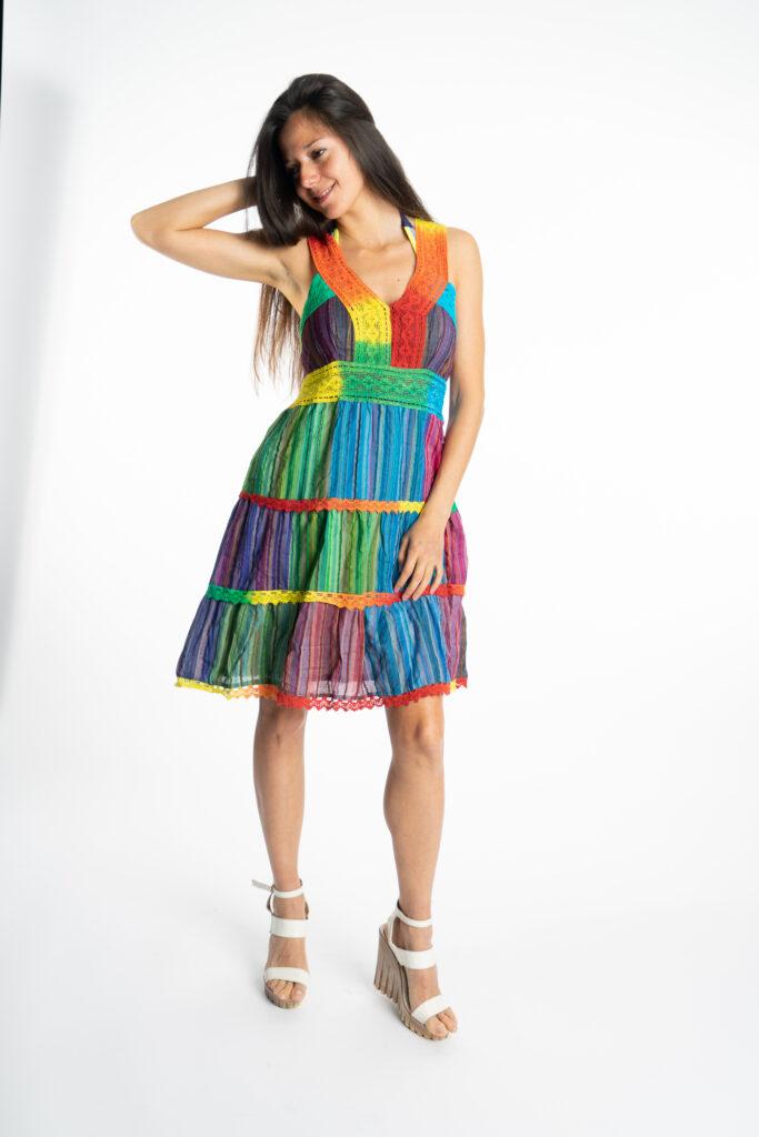 Дамска рокля Rainbow Siya 10190 - 1