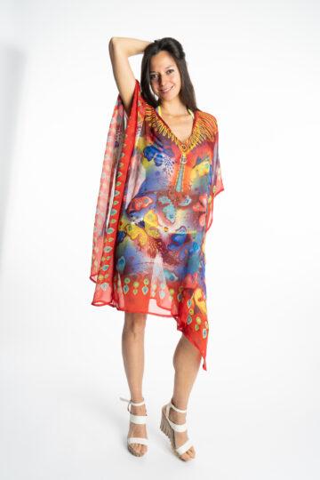 Дамска рокля-туника Butterfly 19924