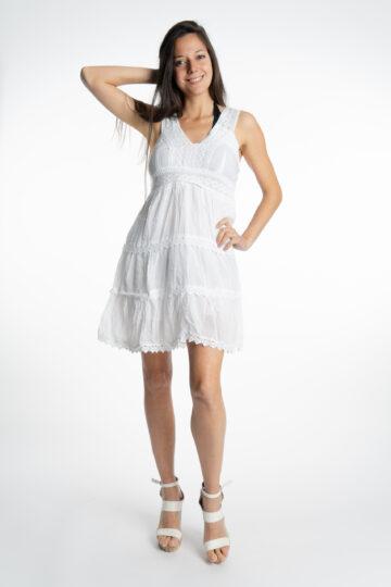 Дамска памучна рокля с волани Siya 2155 - 0