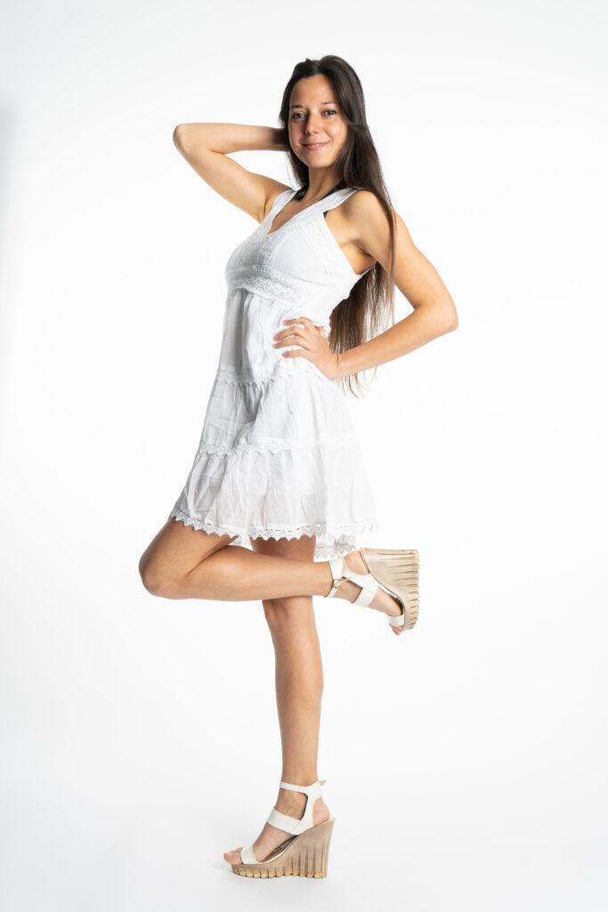 Дамска памучна рокля с волани Siya 2155 - 2