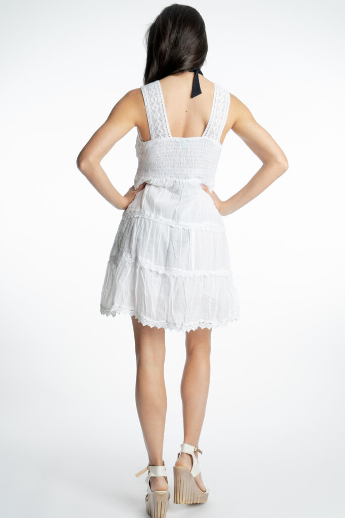 Дамска памучна рокля с волани Siya 2155 - 3