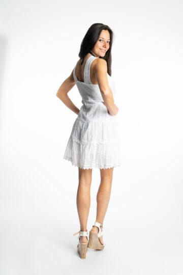 Дамска памучна рокля с волани Siya 2155 - 4