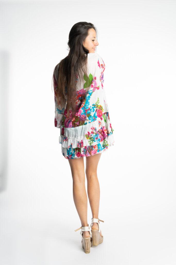 Дамска памучна туника с волани 5320 - 7