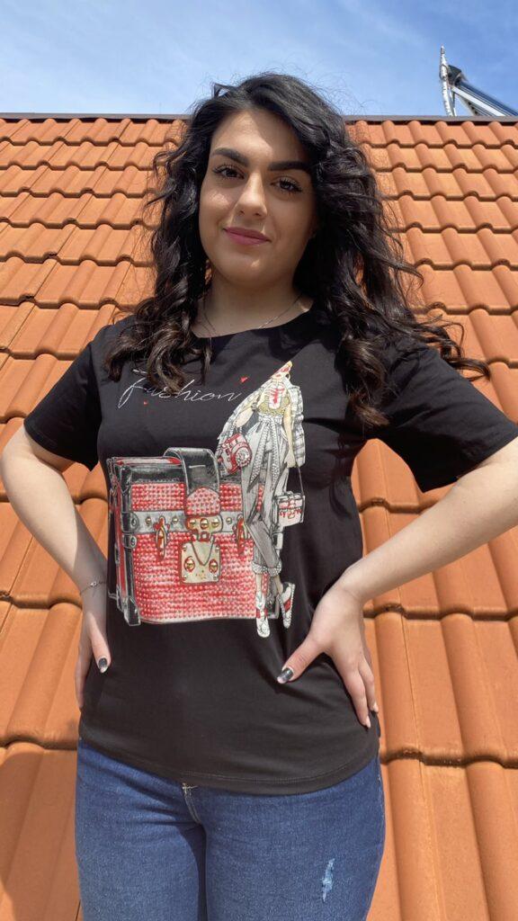 Тениска Fashion Treasure Miss Kiss 30036 - 0