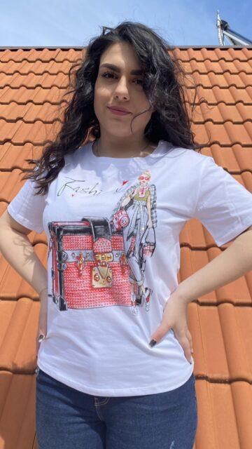 Тениска Fashion Treasure Miss Kiss 30036