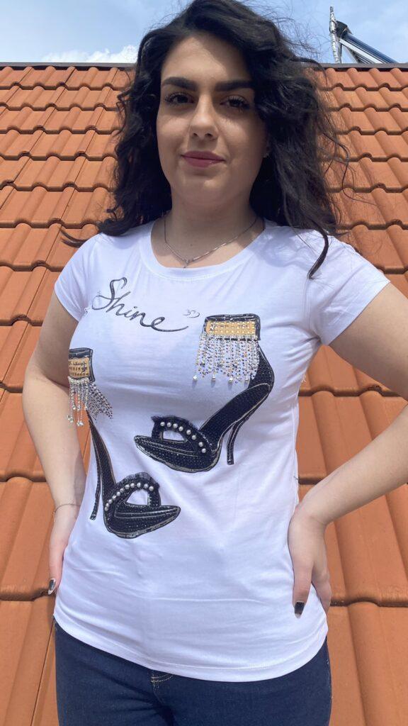 Тениска High heel shiny shoes Miss Kiss 30662