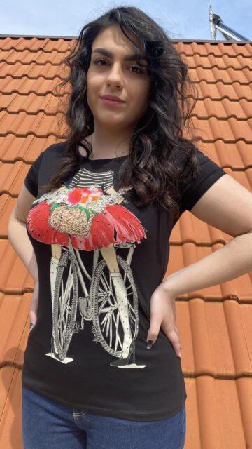 Тениска с декоративни мотиви Miss Kiss 30006 - 1