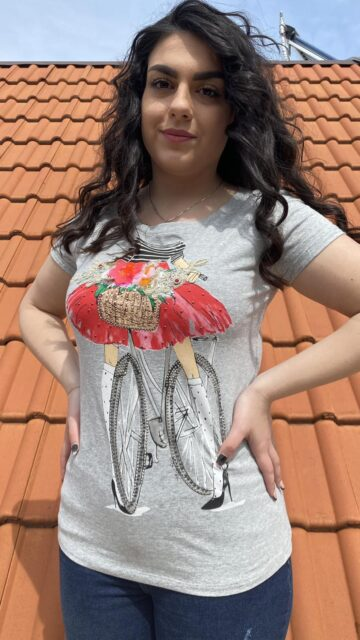 Тениска с декоративни мотиви Miss Kiss 30006 - 0