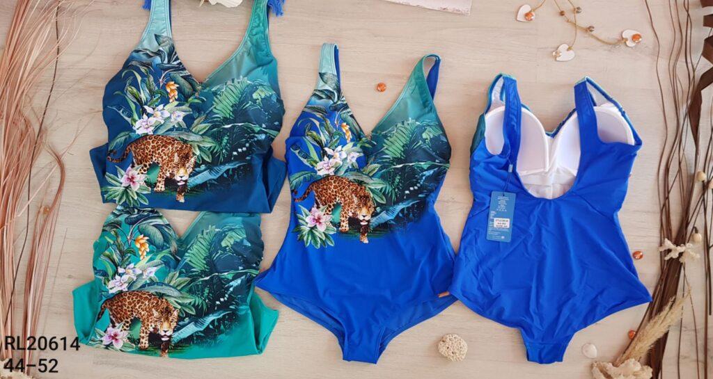 Дамски цял бански с флорални мотиви 20614 - 5