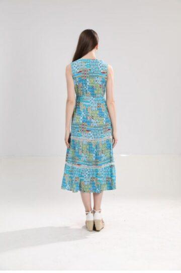Дълга разкроена рокля Sweet Miss M112925 - 0