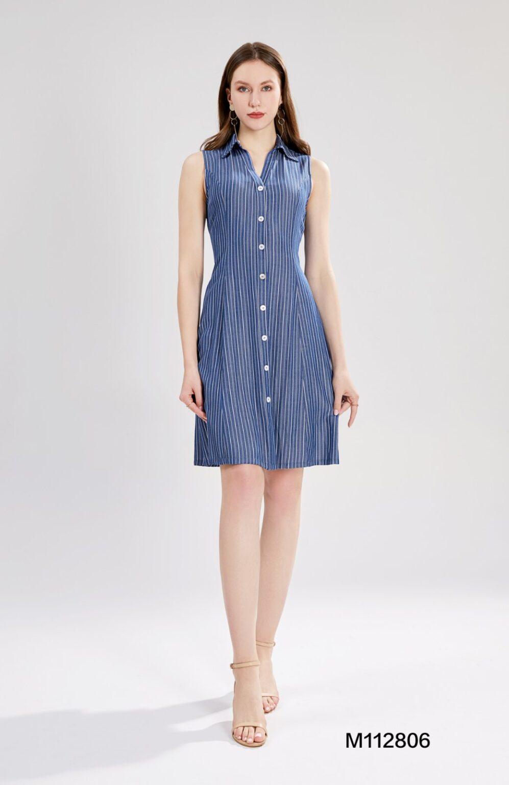 Вталена рокля деним Sweet Miss M112806