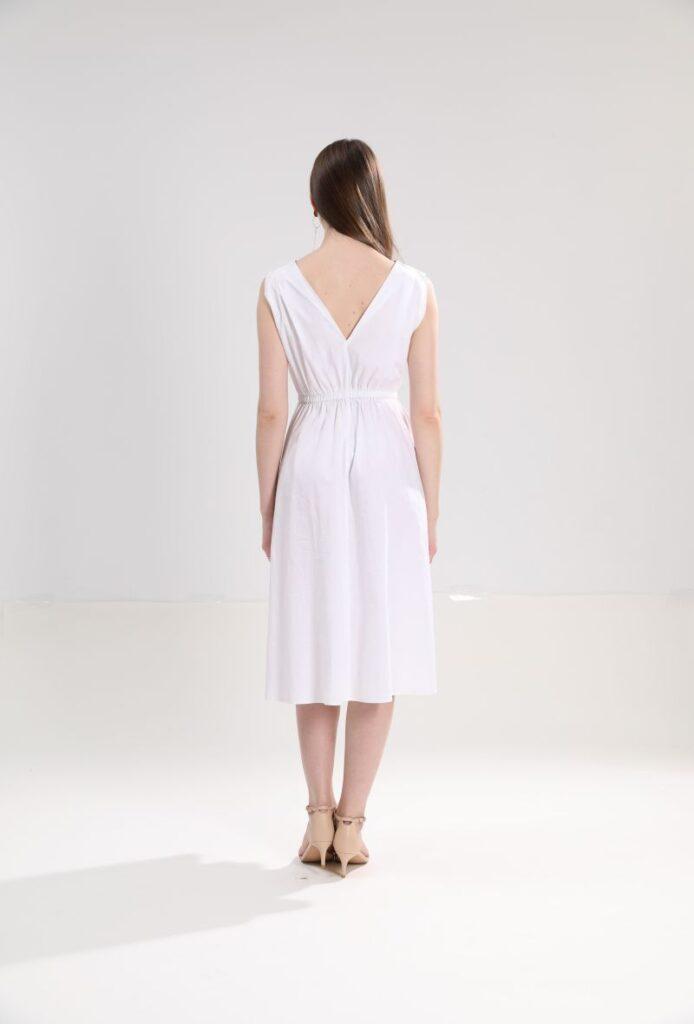 Едноцветна памучна рокля Sweet Miss M112815 - 0